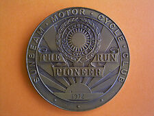 Sunbeam Motor Cycle Club - The Pioneer Run - Participants Medal 1972