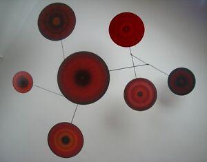 Multi-color Mobile Mid-century Modern Sculpture Art hanging metal sculpture art