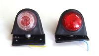 2 x 24V LED Feux de Gabarit Arrière Double Couleur Rouge/Blanc Camion Remorque