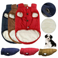 Winter Warm Padded Dog Clothes Waterproof Pet Fleece Coats Vest Jacket for Dogs
