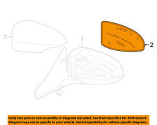 Toyota Oem 13-16 Camry Door Rear Side View-M 00004000 irror Glass Right 8790206011