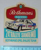 ADESIVO STICKER VINTAGE AUTOCOLLANT 24° RALLYE SANREMO ROTHMANS ANNI'80 9x11 cm