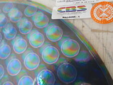 "Dichroic Glass:CBS 90 COE Balloons 1"" Rainbow Pattern on Flat Black - 3""Sq"