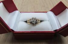 .25ctw Diamond 10KT Yellow Gold Engagement & Band Ring Sz 6 ~ 6.7grams CS-2380