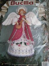 "Christmas Bucilla Felt Applique Holiday Kit,ANGEL TREETOP/CENTERPIECE,82962,11"""