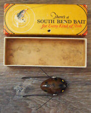 Vintage *RARE* South Bend Plug Oreno #959 Wood Fishing Lure & Box!