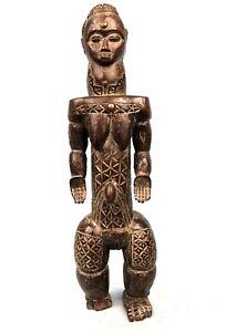 Art Africain Arts Premiers - Fétiche Bété Scarifié - Figure d'Ancêtre - 37,5 Cms