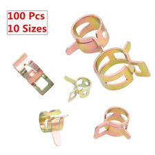 100PCS 6-22mm Motor Spring Clip Water Pipe Fuel Hose Air Tube Clamp Fastener Top