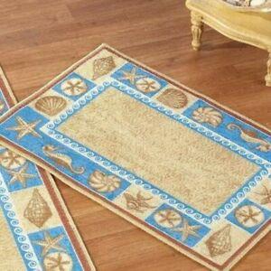 "Sealife Nautical Costal Floor Rug Home Decor Gift 20"" x 30"""