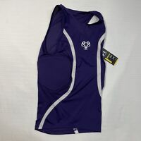 Under Armour MPZ Purple Padded Stretch Compression Basketball Tank Men's Large
