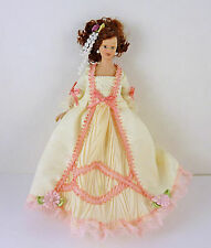 Dollhouse Miniature Victorian Lady Doll, White/Pink, G7641