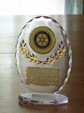 "Rotary Club 6 1/2"" Acrylic Award Trophy FREE engraving"