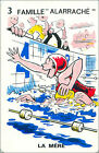 Natation Swimming SPORT PLAYING CARD CARTE À JOUER HUMOR HUMOUR 60s
