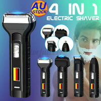 4in1 Rechargeable Electric Razor Shaver Waterproof Cordless Clipper Bald Hair