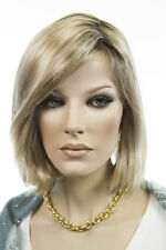 Lt Golden Brown & Blonde Blend Shaded Med Brown Short Lace Front Jon Renau Wigs