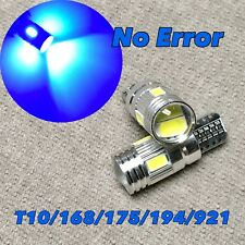 Canbus T10 6 LED Blue Bulb License Plate Light W5W 168 194 W1 For Chrysler A