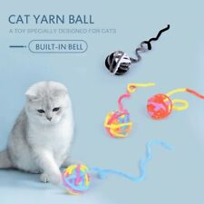 1Pc Cat Wool Bell Ball Molar Tail Toy Interactive Training Smart Playing Squeak