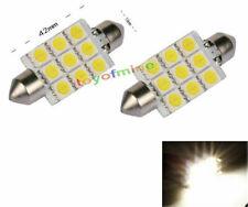 2x 9 SMD LED C5W White Car Interior Festoon Dome Bulb Light Lamp 42mm DC 12V New