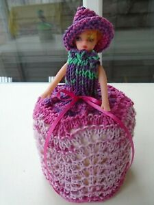 Hand Knitted Rosie Toilet Roll Doll Cover