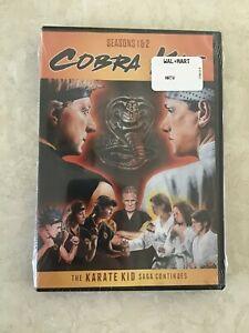 Cobra Kai Season 1 & 2 Region 1 US & Canada Karate Kid DVD BRAND NEW! SEALED
