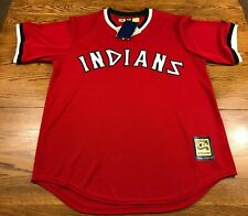 Cleveland Indians Majestic Baseball Jersey Cooperstown Collection Adult L New