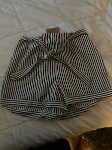 Striped Shorts 1xl Grey And White