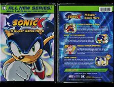 Sonic X: A Super Sonic Hero ((Brand New DVD, 2004)