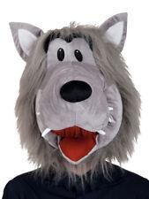 Wolf Soft Plush Mask Little Red Riding Hood Overhead Halloween Fancy Dress Adult