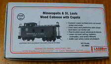 American Model Builders HO #882 M&StL Cupola Caboose (Kit) Less Trucks & Coupler