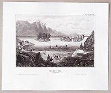 Schweden, Sverige - Trollhättan-Fälle, Göta Älv. Stich, Stahlstich 1850