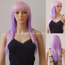 """Rainbow Ombre Hair Wig 24"""" Long Curly Wavy Women Lady Cosplay Dress Full Wigs US"""