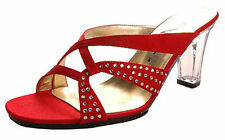 Satin Narrow (AA, N) Solid Sandals & Flip Flops for Women