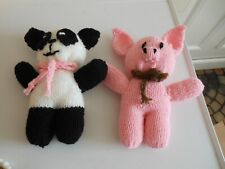 New listingNew Home Made Knitted Animals Soft Toys- Panda & Pig 9' Tall-Soft Stuffed