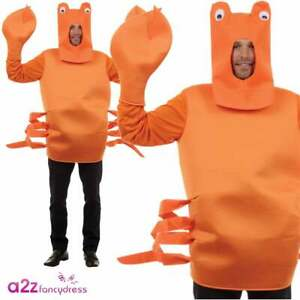 Crab Costume Mens Ladies Novelty Under The Sea Stag Party Fancy Dress Outfit