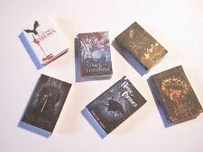 6 casa de muñecas en miniatura de Juego de Tronos Libros Set 1