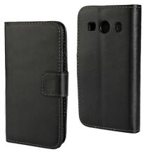 Black Leather Wallet Card Money Case Cover Stand For Samsung Galaxy Ace 4 G357