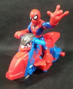 Imaginext Spiderman Spider-Man Action Figure Loose Super Hero Squad Motorcycle