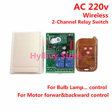 AC 220v 10A relay 2CH wireless RF Remote Control Switch Transmitter+Receiver