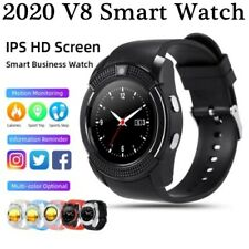 V8 Smart Watch Bluetooth Touch Screen SIM Phone & Camera Tracker For Android/iOS