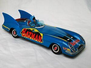 ASC Batmobile Batman Car Tin Toy Car Battery Operated Vintage Japan Very Rare !