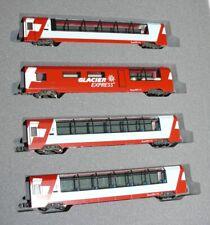 HS Kato 7074031 Glacier Express  Ergänzungs-Wagenset,  4-teilig Sp N