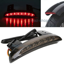 Smoke Red Rear LED Tail Light Brake Stop Lamp For Motorcycle Bobber Chopper