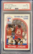 1989 Hoops Michael Jordan #21 All-Stars PSA Gem MT 10