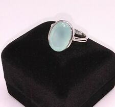 STERLING SILVER MINT CHALCEDONY RING SIZE 7