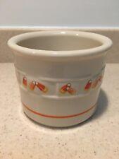 Longaberger Pottery Candy Corn 1 Pint Salt Crock - Usa!