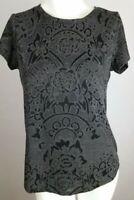 SIMPLY VERA WANG Women's Knit Top Small Black Gray S