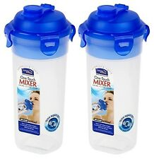 Lock & Lock 2 X One Touch Mixer Batter Shaker Water Bottle 23oz 690ml HPL934N