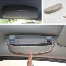 1X Portable grau ABS Auto Innen Sonnenbrillen Aufbewahrungskoffer Brillenhalter