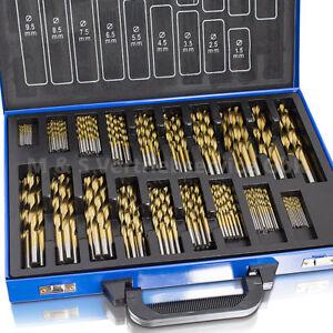 BITUXX Bohrerset 230 tlg TITAN HSS Metallbohrer Spiralbohrer Holzbohrer 1-10mm