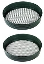 Heavy Duty Garden Riddle Riddler Soil Sift Compost Sieve Mesh Seed Tray 2 SIZES